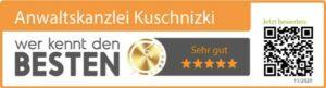kuschnizki Kanzlei - wer kennt den Besten